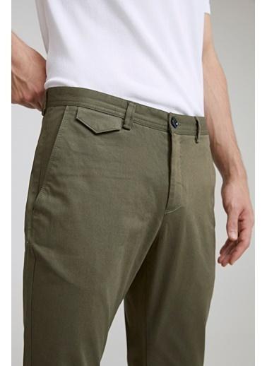 TWN Slim Fit Armürlü Chino Pantolon Yeşil